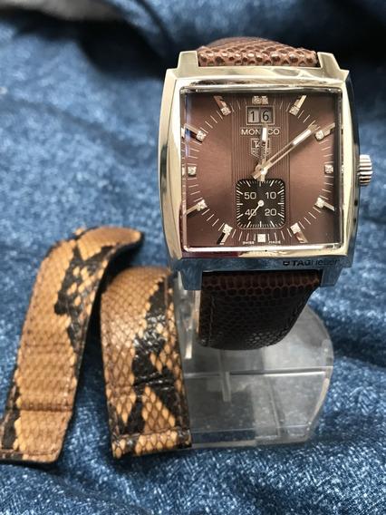 Relógio Nivel Omega 13 Diamantes Tag Monaco 37mm 2 Pulseiras