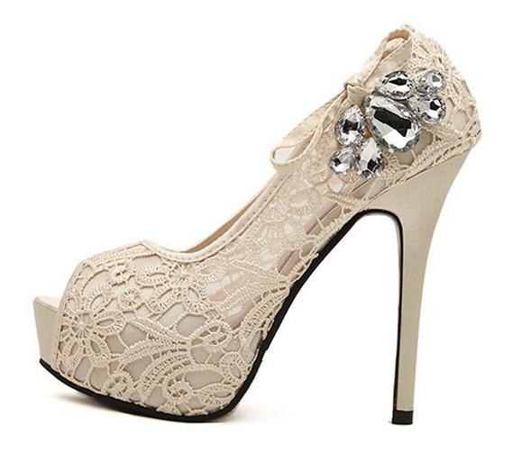 Zapatos De Novia 15 Años Zapato De Encaje