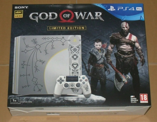 Sony Ps4 Pro 1tb 4k Edición God Of War + 2 Controllers