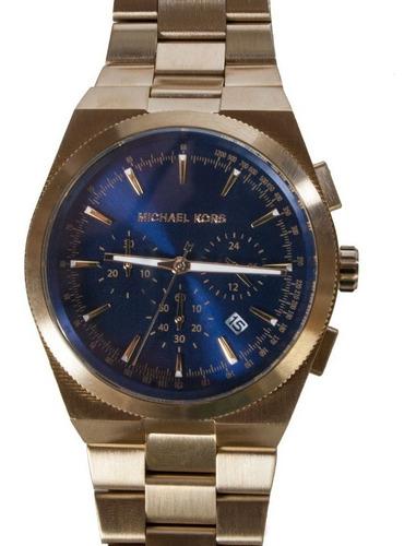 Relógio Michael Kors Mk8338 Channing Orig Gold Blue
