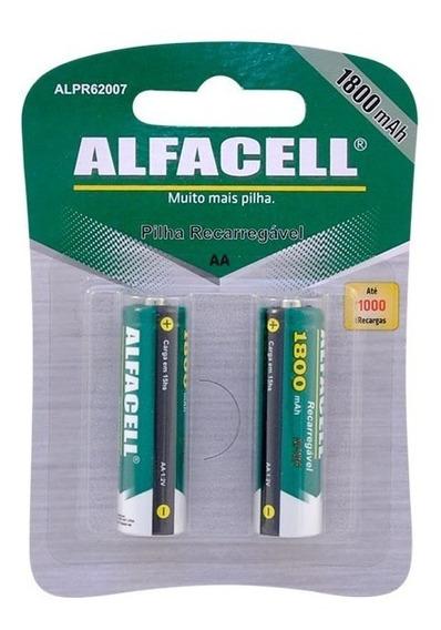 Pilha Recarregável Aa Cartela Com 2 Unidades - Alfacell