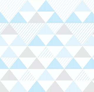 Papel Parede Quarto Triângulo Geométrico Azul Cinza 3m