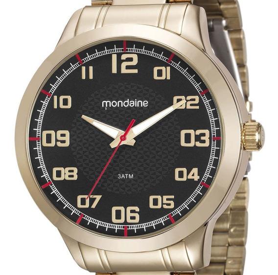 Relógio Mondaine Masculino Dourado 99142gpmvde3 + Nf
