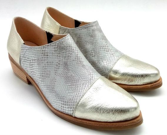 Botita Punta Elastico Moda Mujer Calzado Zapato Cuero 3016pm