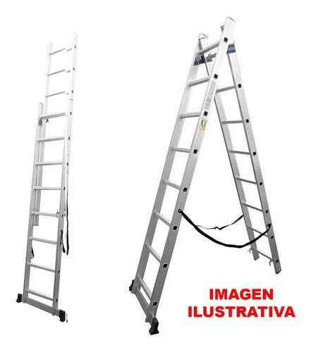Escalera Aluminio 2 Tramos 12 Escalones Lee Tools G P