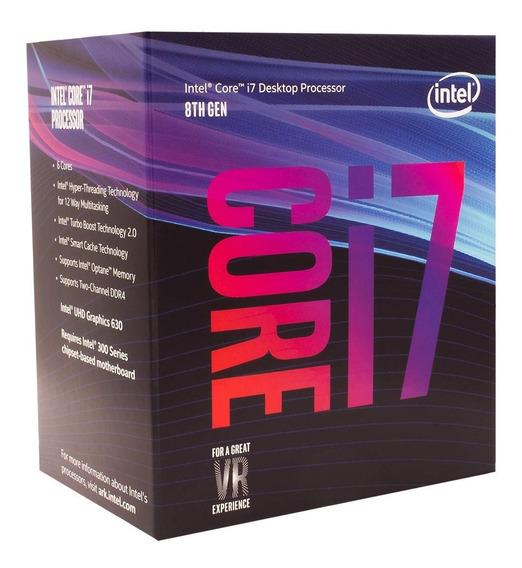Processador Intel Core I7-8700 Cache 12mb, 3.2ghz Lga 1151