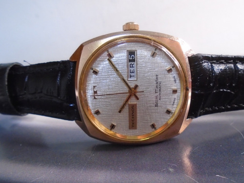 Technos Antigo Slim Master Cal As 1876 Guilhoche Gold Filled