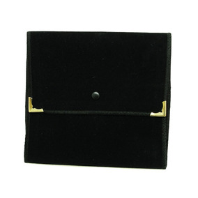 Envelope Veludo Pequeno Para Colar Preto