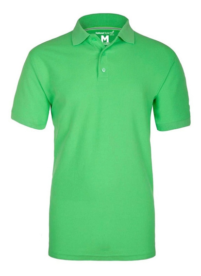 Playera Lisa Polo Premium Hombre National Style