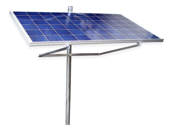 Suporte Painel Placa Solar Fotovoltaico Poste 50w 55w