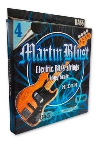 Imagen 1 de 8 de Encordado Cuerdas Bajo 045-105 Martin Blust M400 4 Cuerdas