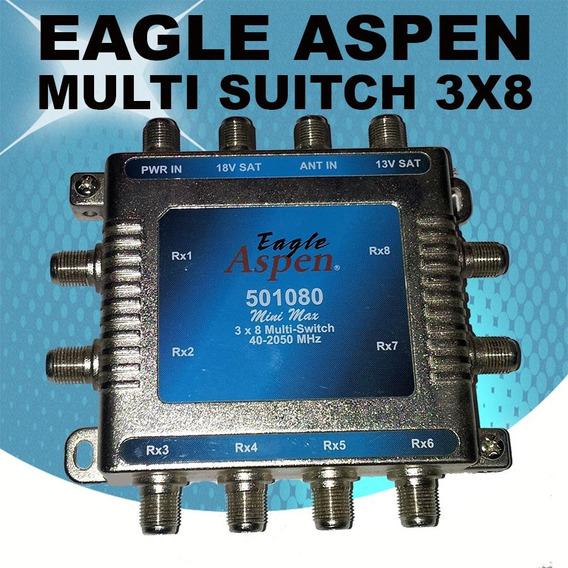 Switch Multiderivador 3x8 Aspen Eagle Cable Satelital Antena