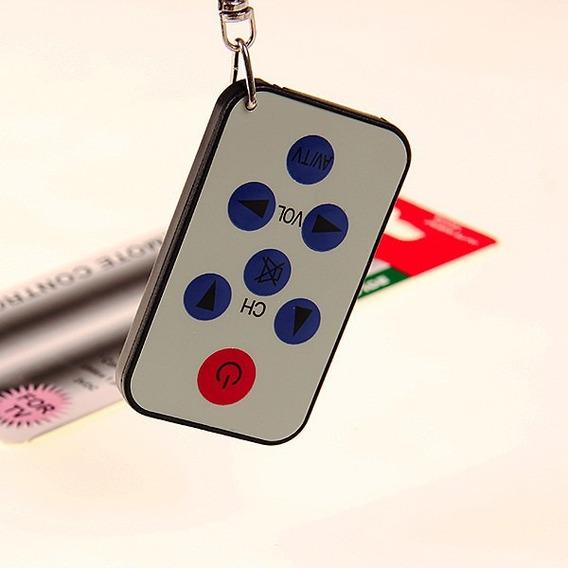 Mini Controle Remoto De Tv Universal Cinza É Preto