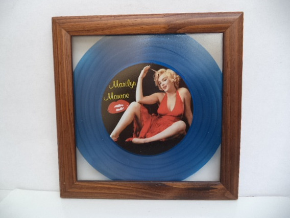 Quadro Artesanal Marilyn Monroe - Feito Em Em Disco Compacto