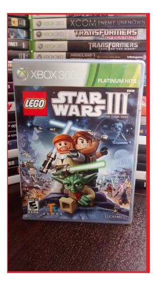 Lego Star War 3 The Clone Wars Xbox 360 Original Frete R$ 12
