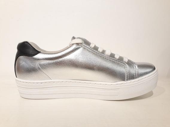 Zapatillas Mujer Plateadas Vía Marte Importadas