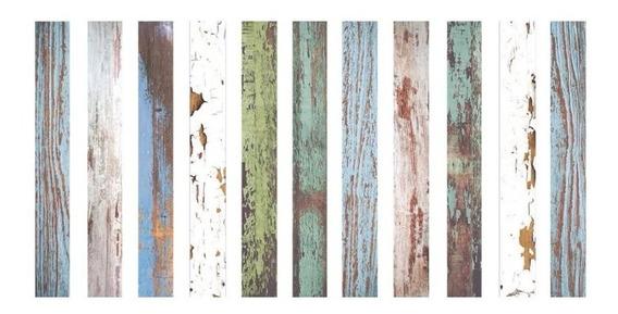 Liston De Maderacolor Wood7x60 Revestimiento Piu Cuotas