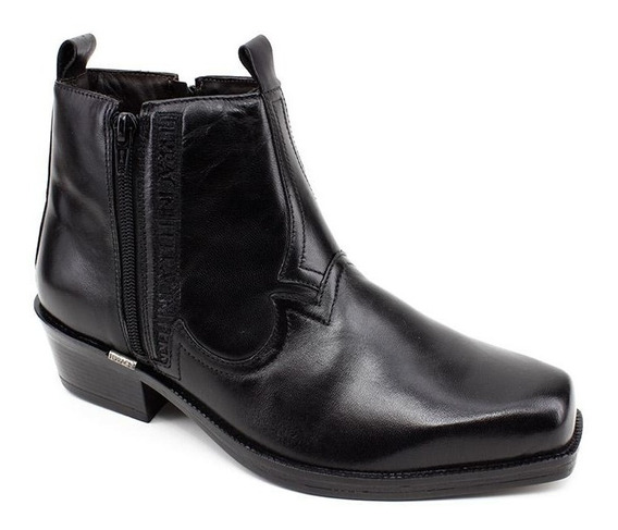 Bota New Country Couro Ferracini 8907 Preto