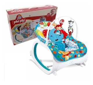 Silla Mecedora 2 En 1 Con Sonido Phi Phi Toys 7090