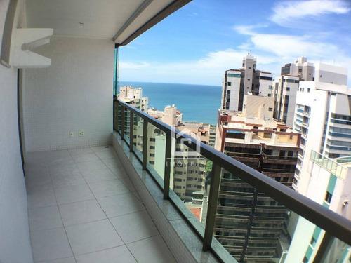 Praia Da Costa 3 Quartos Com Suite, Varanda, Dependência E Wc De Servico! - Ap0129