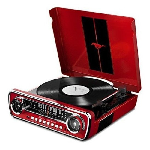 Ion Audio Mustang Lp Ford 4in1 Car Styled Music Center Red