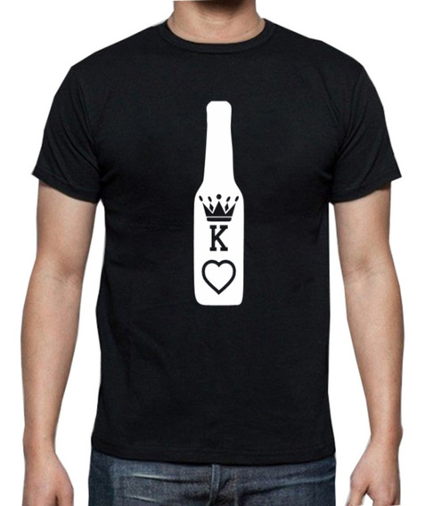 2 Playeras Pareja Amor King/ Queen Botella