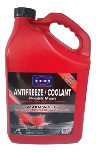 Refrigerante Rojo Rudson Antifreeze Coolant Galon Spf