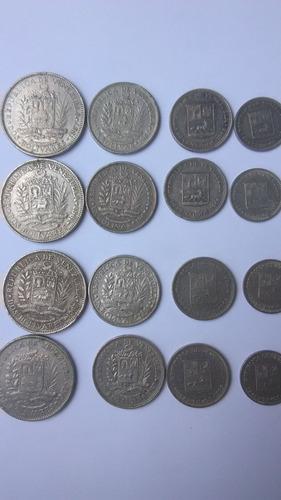 Imagen 1 de 4 de Monedas 2, 1, 0.5 Y 0.25 Bolívares Años 1965-1967.