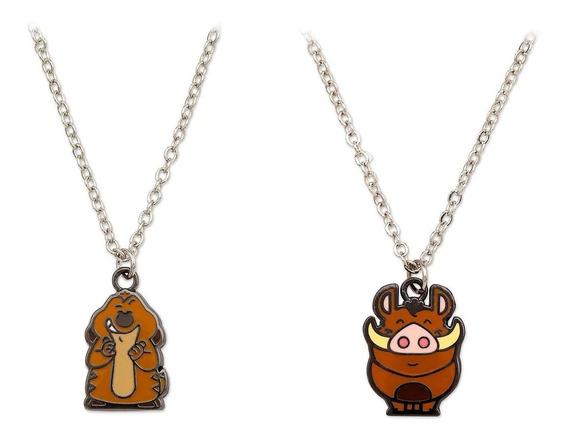 Collar Original Disney Store Timon Y Pumba Importado