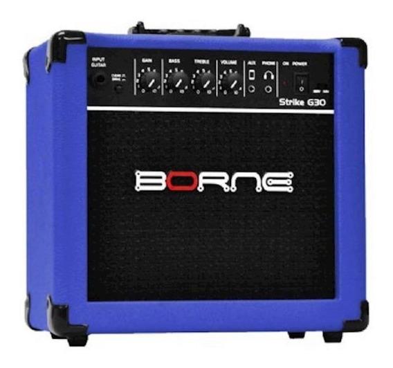 Amplificador Borne Strike G30 15W azul 110V/220V