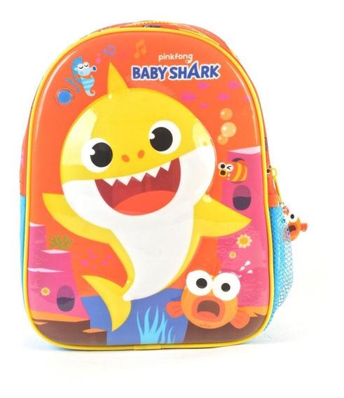 Mochila Baby Shark Naranja 11