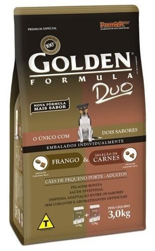 Imagem 1 de 1 de Ração Golden Para Cães Duo Frango E Carne Mini Bits 3kg