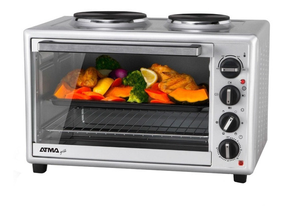 Horno Grill Electrico Atma Hg5010an 50lts 2 Anafes 1600w