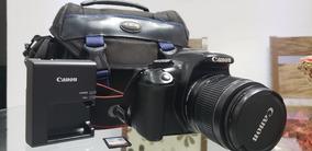 Camera Canon T3 - Com Lente 18-55 Cartao E Bolsa