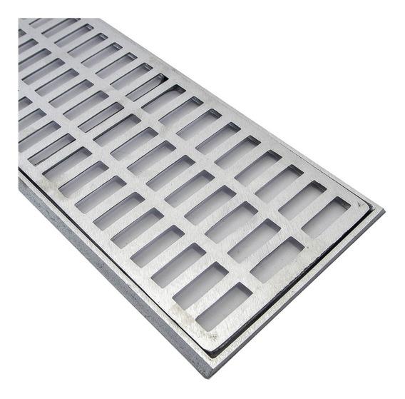 Grelha Pluvial 20x100 Aluminio + Tela ( Módulos 50cm)