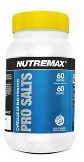 Nutremax Pro Salts Capsulas Electrolitos 60 Servi Sin Tacc