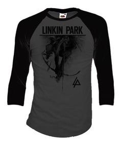 Linkin Park Playeras Manga 3/4 Para Hombre Y Mujer
