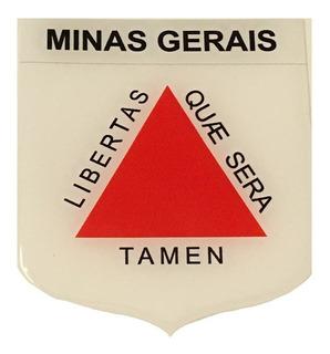 Adesivo Resinado Em Escudo Da Bandeira De Minas Gerais