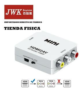 Convertidor Hdmi A Rca Av Pc Laptop Video Hd Tv Jwk Vision