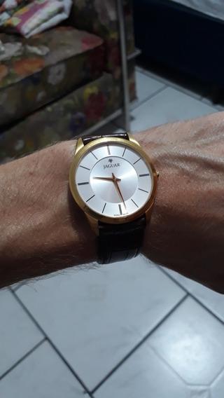 Relógio Social Classico Jaguar Slim Couro Original