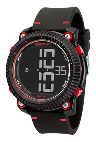 Relógio Masculino Speedo Dig 80595g0evnp3 Preto/vermelho