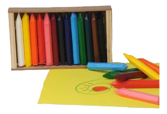Crayones Pastas Triangulares 13 Colores Dibujo Waldorf Cera