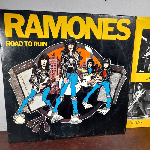 Imagem 1 de 8 de Vinil Lp Ramones Road Tô Ruin Com Encarte Ótimo Estado