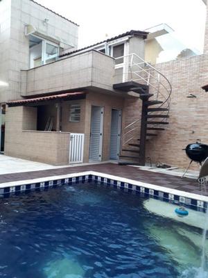Sobrado Em Vila Valença, São Vicente/sp De 320m² 3 Quartos À Venda Por R$ 1.350.000,00 - So152011