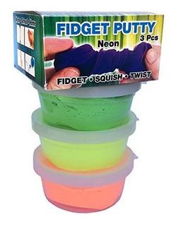 Zorbitz Scented Neon 3pack Fidget Putty Multi 15 Oz