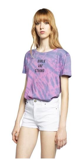 Remera Girls Batik Jersey Cuello Redondo Mujer Complot