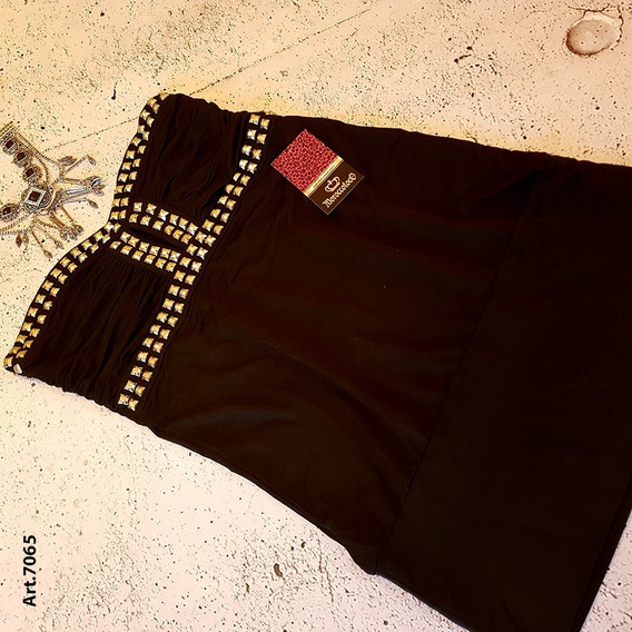 Mini Dress Tachas Strapless Importado!! Art.7065