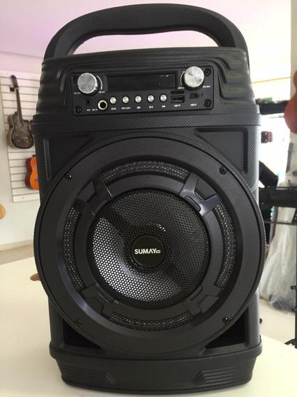 Caixa De Som Sumay Portátil Power Black 60w Rms