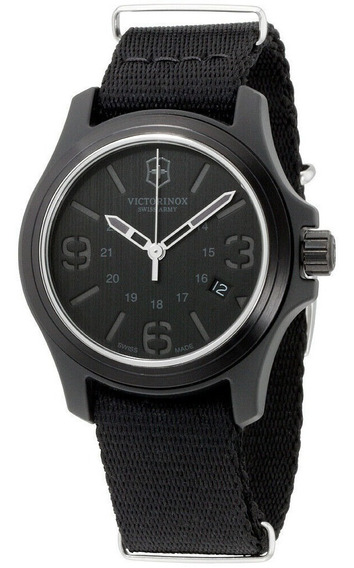 Relógio Suíco Victorinox Swiss Army All Black Field Watch