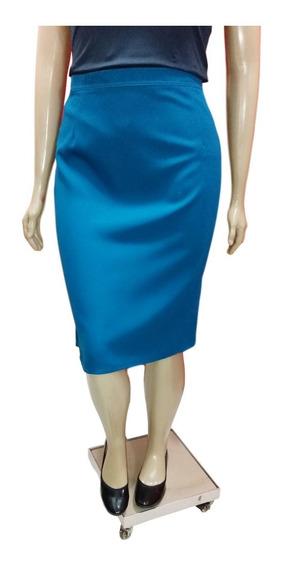 Saia Social Feminina Plus Size Forrada Elástico Cintura 94